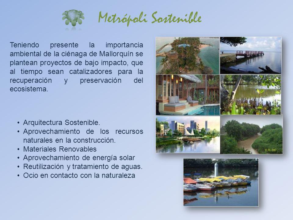 Teniendo presente la importancia ambiental de la ciénaga de Mallorquín se plantean proyectos de bajo impacto, que al tiempo sean catalizadores para la
