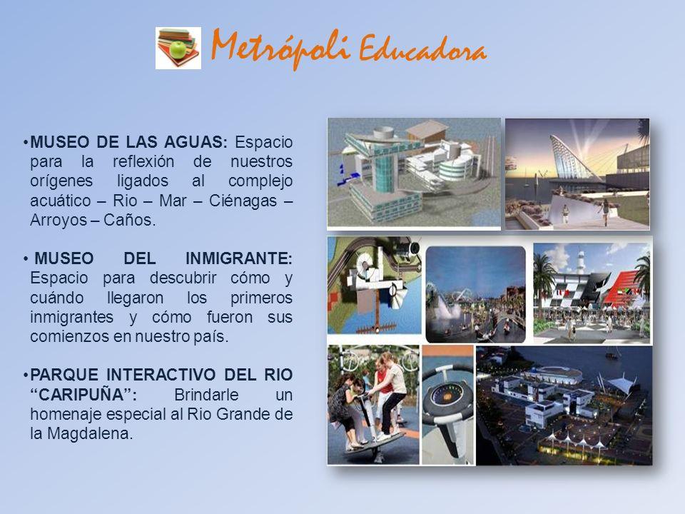 Metrópoli Educadora MUSEO DE LAS AGUAS: Espacio para la reflexión de nuestros orígenes ligados al complejo acuático – Rio – Mar – Ciénagas – Arroyos –