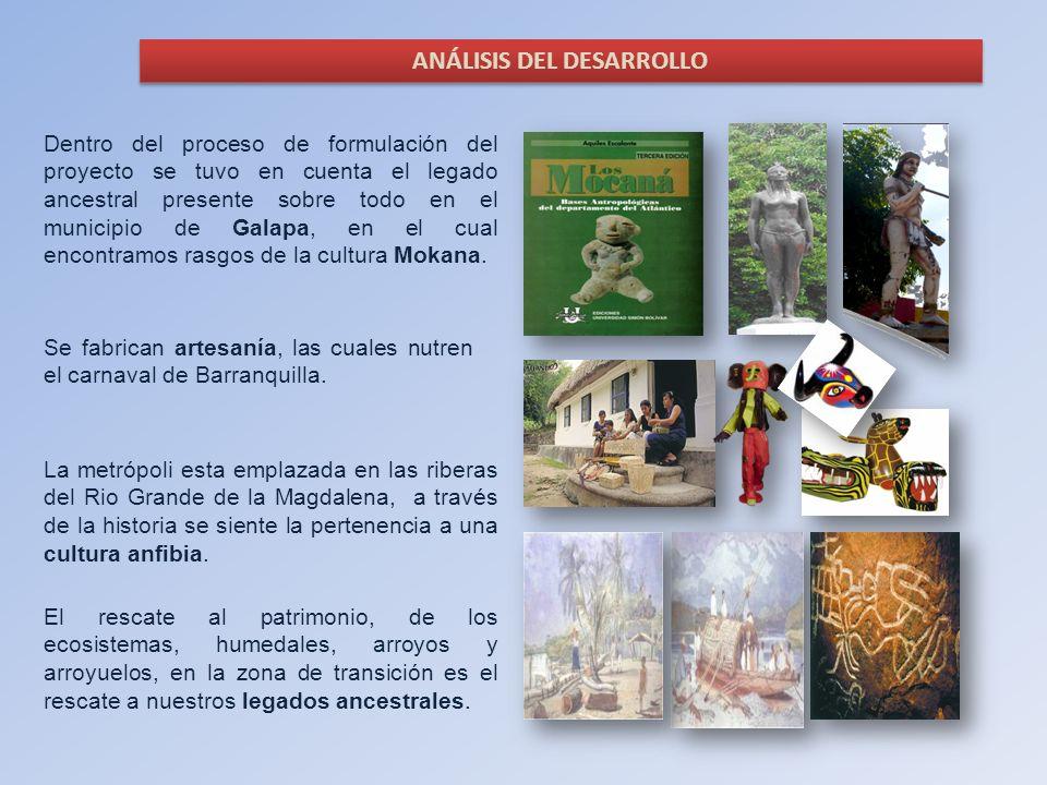 Dentro del proceso de formulación del proyecto se tuvo en cuenta el legado ancestral presente sobre todo en el municipio de Galapa, en el cual encontr