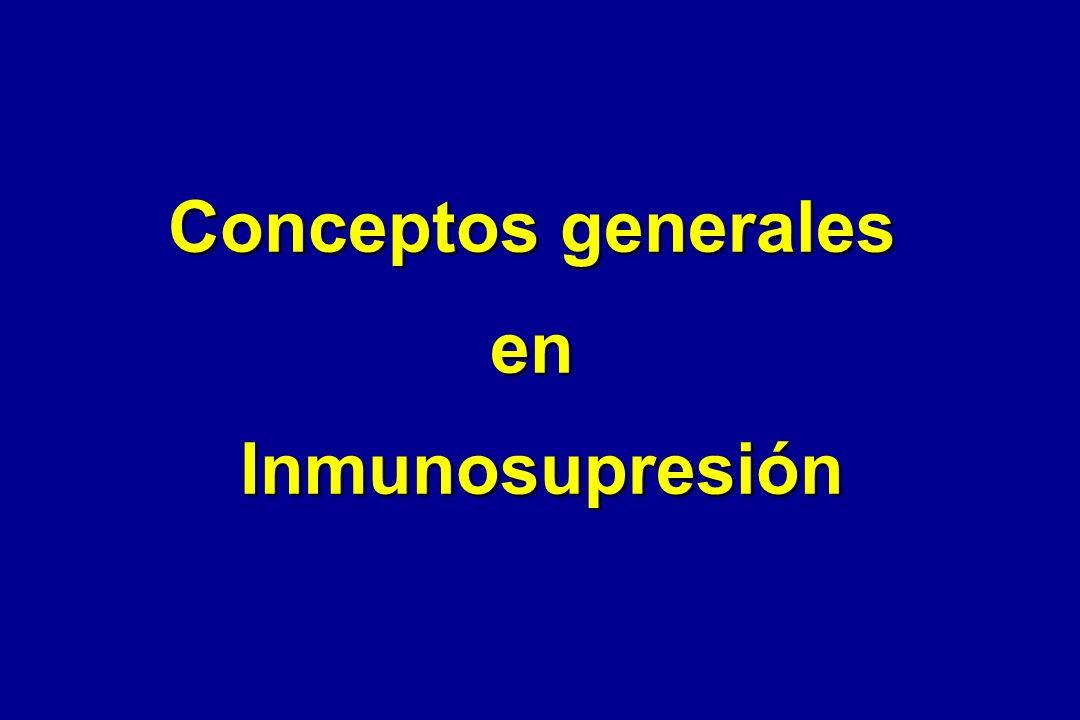 Conceptos generales enInmunosupresión