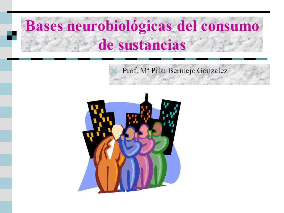 Prof. Mª Pilar Bermejo Gonzalez Bases neurobiológicas del consumo de sustancias