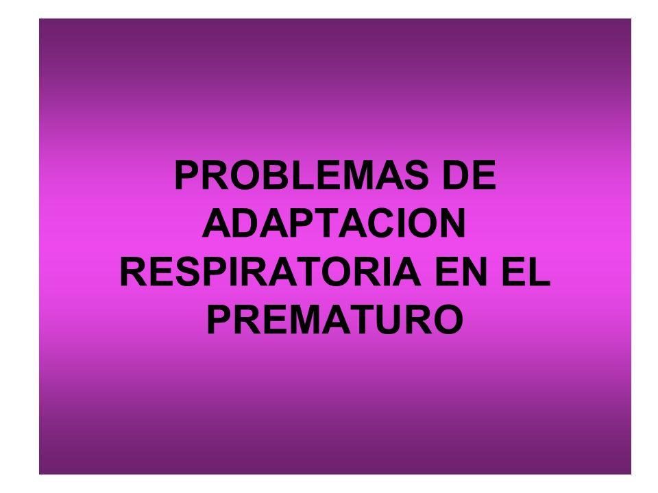 PROBLEMAS DE ADAPTACION RESPIRATORIA EN EL PREMATURO