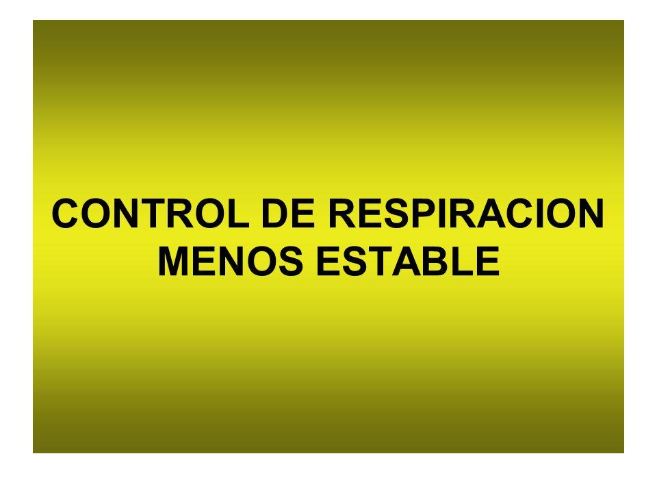 CONTROL DE RESPIRACION MENOS ESTABLE