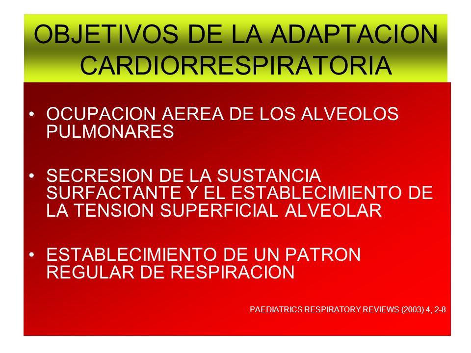 PROBLEMAS DE ADAPTACION EN EL RN ORGANO O SISTEMA AFECTADOPATOLOGIA 1.- SISTEMA RESPIRATORIO FALTA DE SURFACTANTEENF.