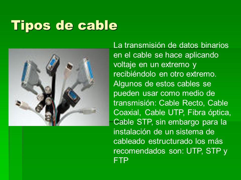 1.Cable Normal Es un cable único, generalmente cilíndrico, alargado.