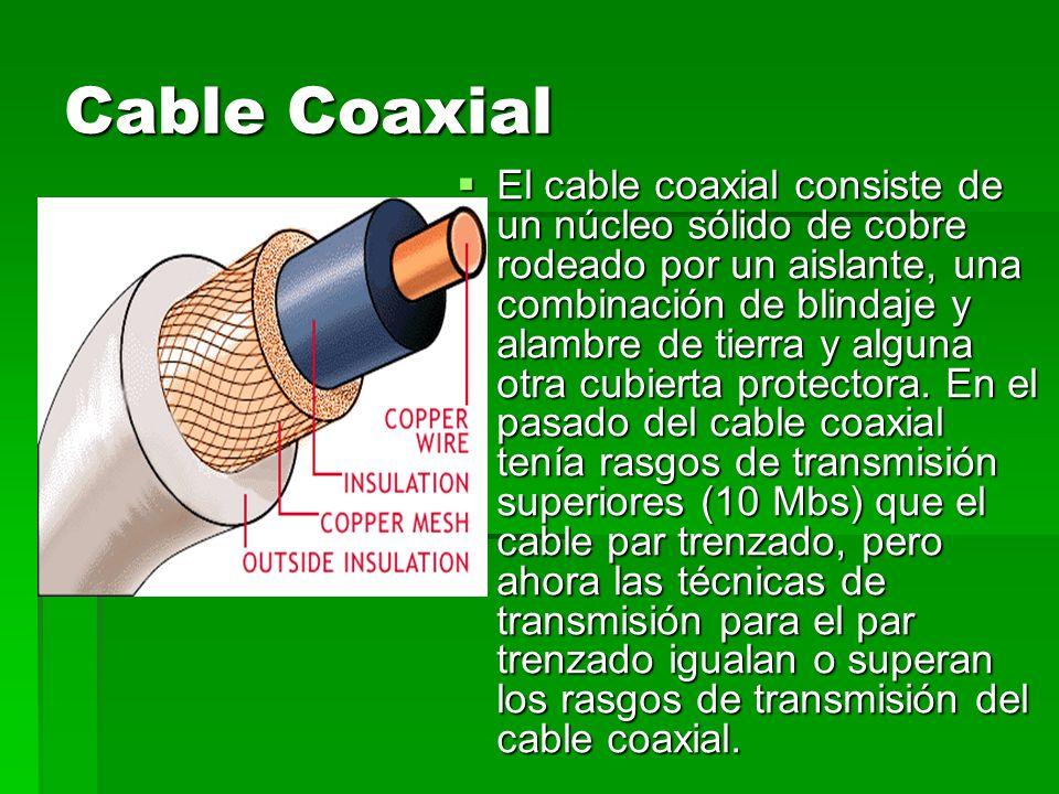 Cable UTP Consiste en un mazo de conductores de cobre ( protegido cada conductor por un dieléctrico ), que están trenzados de dos en dos para evitar al máximo la Diafonía.