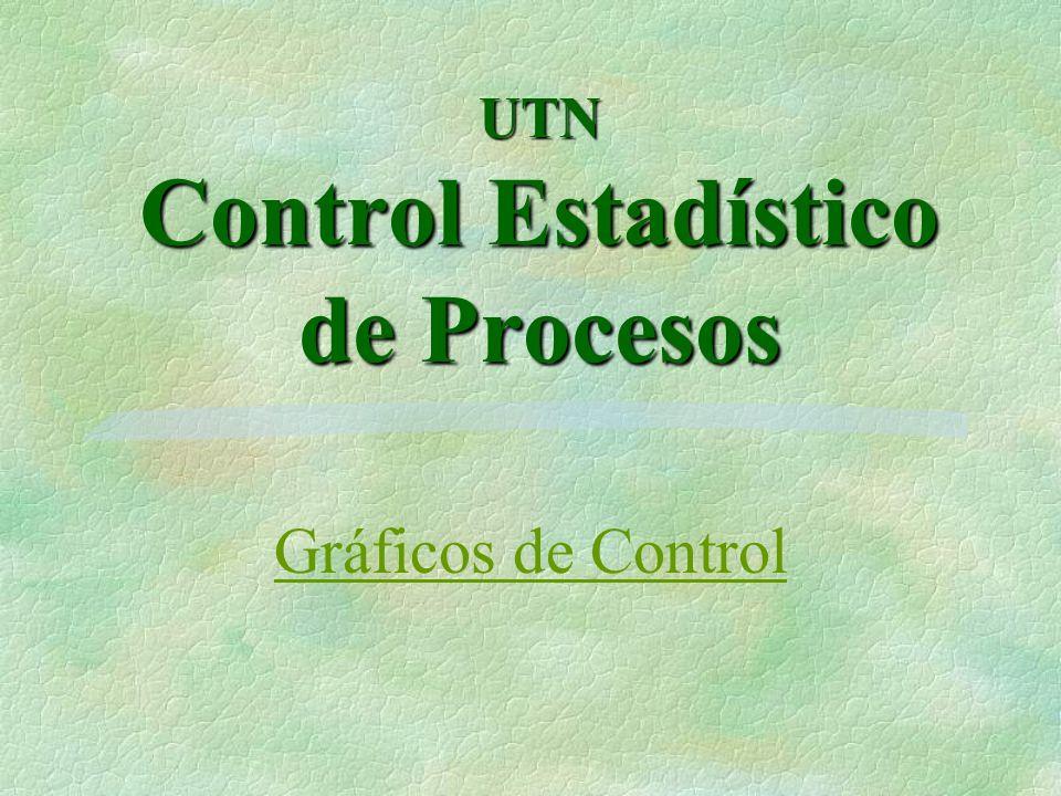 Los gráficos de control o cartas de control son una importante herramienta utilizada en control de calidad de procesos.