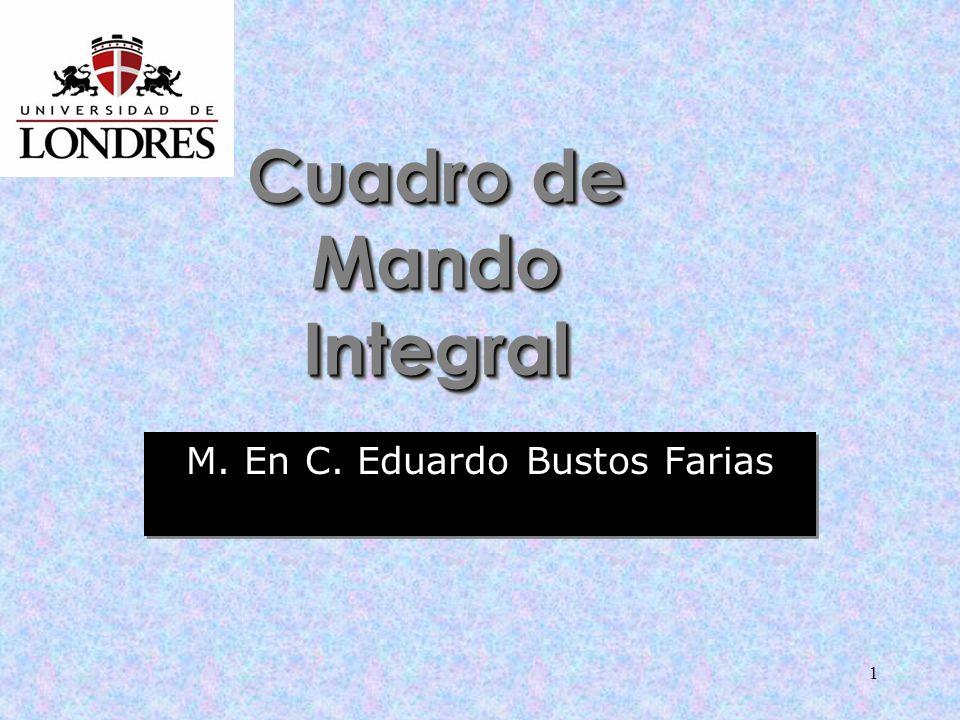 1 Cuadro de Mando Integral M. En C. Eduardo Bustos Farias