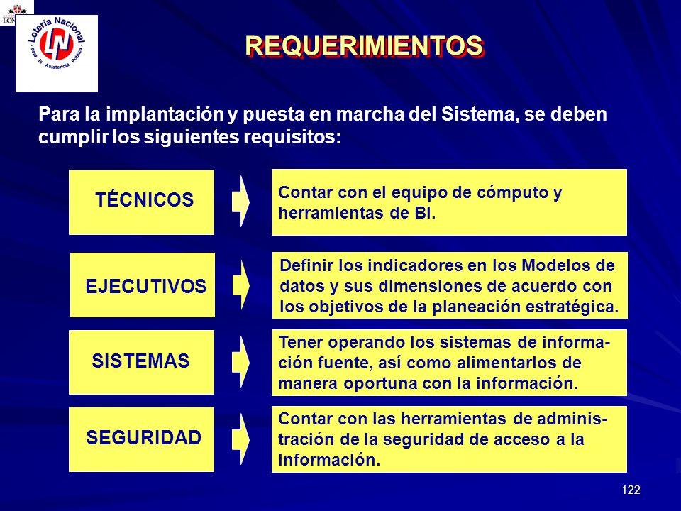 122 Para la implantación y puesta en marcha del Sistema, se deben cumplir los siguientes requisitos: Contar con el equipo de cómputo y herramientas de