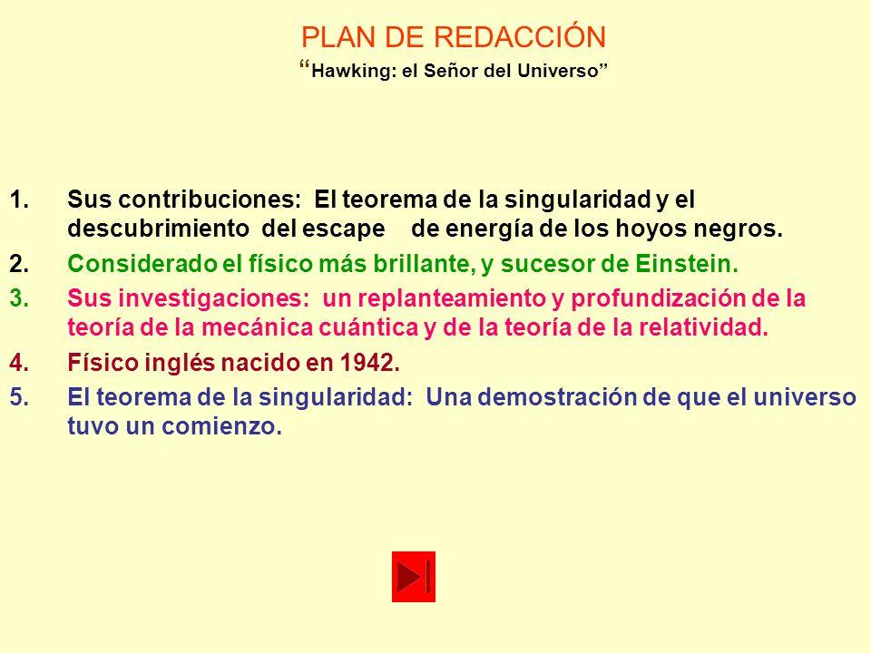 PLAN DE REDACCIÓN El factor X: un nuevo elixir 3.