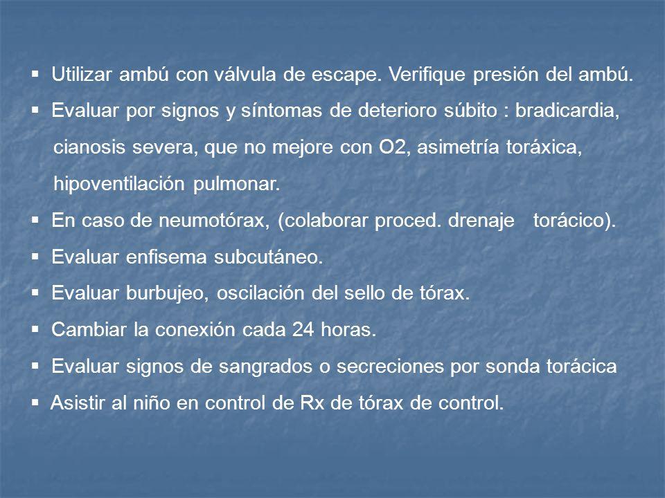 DIAGNOSTICOS DE ENFERMERIA III. Riesgo potencial de sufrir ¨barotraumas¨ relacionado a altas presiones ventilatorias RESPUESTA ESPERADA No desarrollar