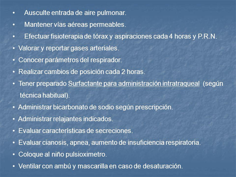 DIAGNOSTICO DE ENFERMERIA MEMBRANA HIALINA TIPO III Y IV I.Deficiencia en el patrón ventilatorio relacionado a inmadurez pulmonar. RESPUESTA ESPERADA