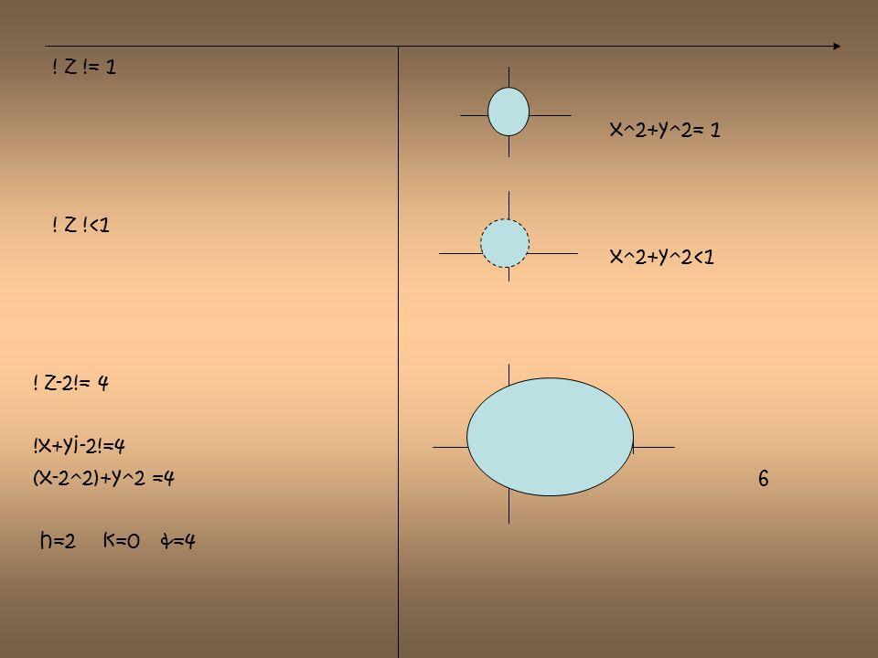 Graficar f(z) en el plano w si a)F (z)=z+1 b) f (z)= z W=z+1 z4 z3 Plano w Plano z z1 z2 z1=( 1+i)= (1-i) w1=1-i w4 w3 z2=(2+i)= (2-i) w2=2-i z3= (1+2i)= 1-2i z4= (2+2i)= 2-2i Plano w w1 w2 z1= 1+i w1=(1+i)+1=2+i z2= 2+i w2=(2+i)+1=3+i z3=1+2i w3=(1+2i)+1=2+2i z4=2+2i w4=(2+2i)+1=3+2i