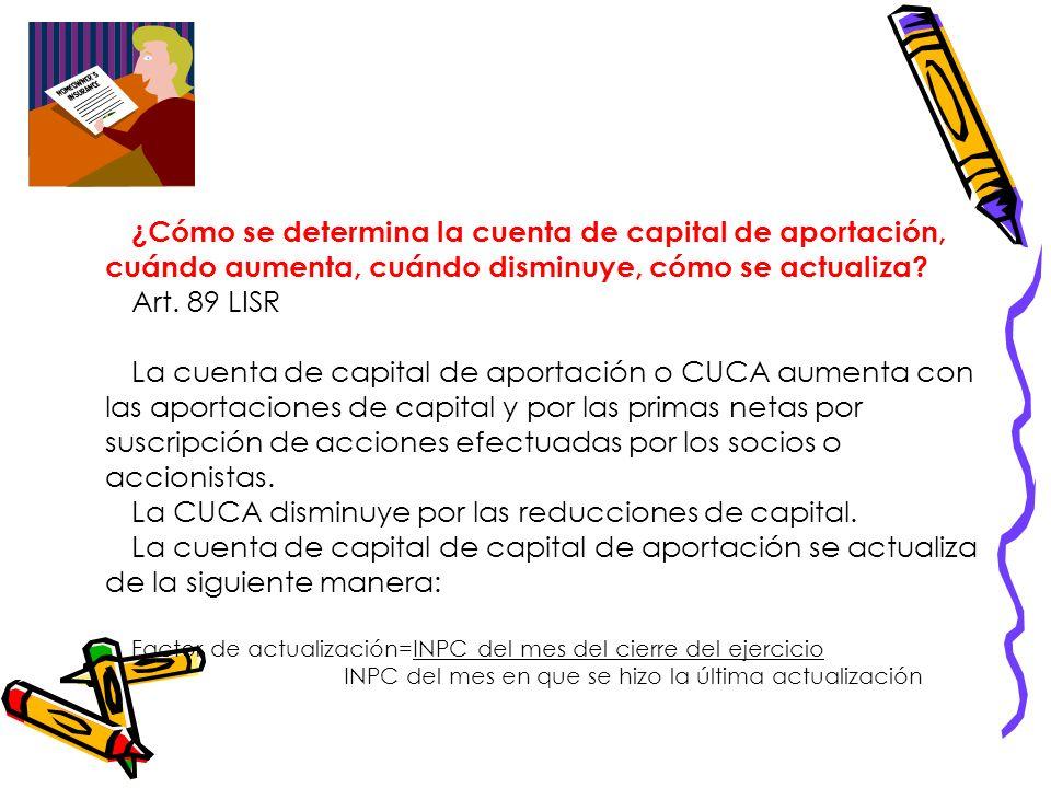 Cuenta de utilidad fiscal neta (CUFIN) Y Cuenta de capital de aportación (CUCA) Lalo Originales 668321 Ana Luisa Chacón 957415 Paulina Ledón 990634