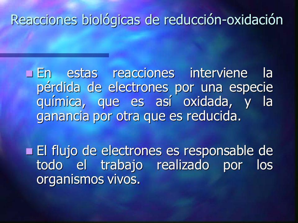 En estas reacciones interviene la pérdida de electrones por una especie química, que es así oxidada, y la ganancia por otra que es reducida. En estas