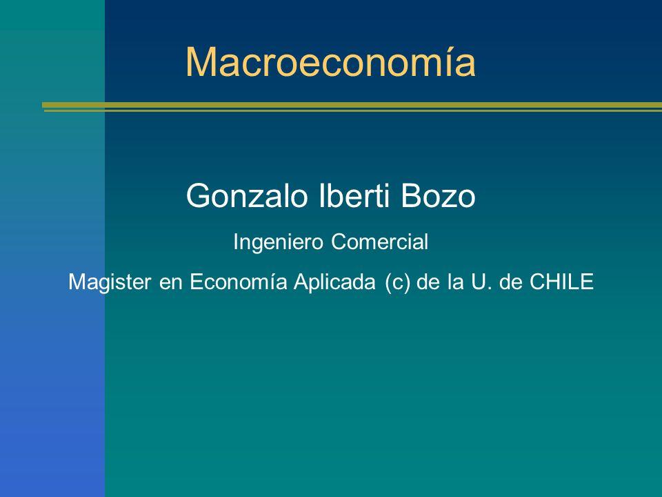 Curso de macroecnomía OBJETIVOS DEL CURSO Familiarizar al alumno con los conceptos del análisis macroeconómico.