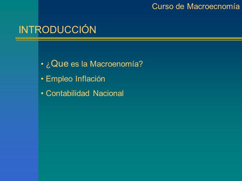 Curso de Macroeconomía ¿ Que Sucede.