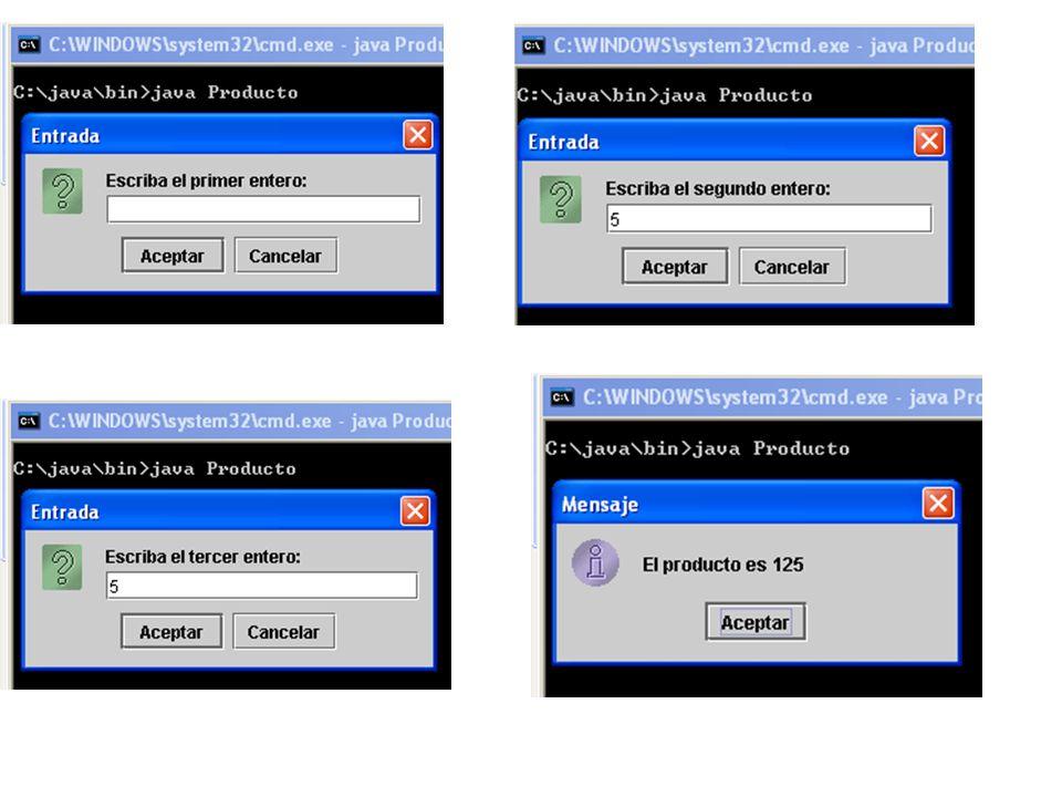 // Paquetes de Java import java.awt.Graphics; // importar la clase Graphics import javax.swing.JApplet; // importar la clase JApplet public class SubprogramaBienvenido extends JApplet { // dibujar texto en el fondo del subprograma public void paint( Graphics g ) { // llamar a la versión del método paint de la superclase super.paint( g ); // dibujar un String en la coordenada x 25 y la coordenada y 25 g.drawString( ¡Bienvenido a la programación en Java! , 25, 25 ); } // fin del método paint } // fin de la clase SubprogramaBienvenido