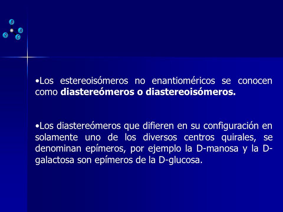 Los estereoisómeros no enantioméricos se conocen como diastereómeros o diastereoisómeros. Los diastereómeros que difieren en su configuración en solam