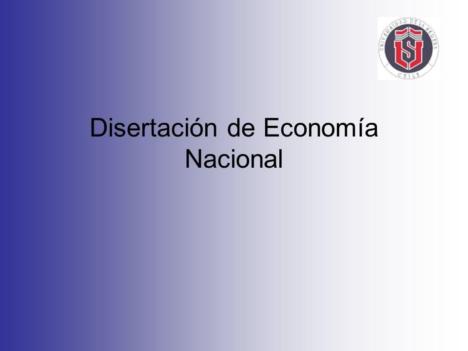 Disertación de Economía Nacional