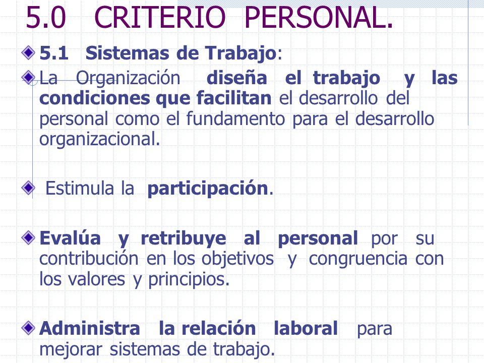 5.0 CRITERIO PERSONAL.