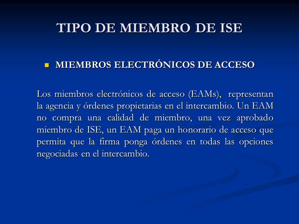 TIPO DE MIEMBRO DE ISE MIEMBROS ELECTRÓNICOS DE ACCESO MIEMBROS ELECTRÓNICOS DE ACCESO Los miembros electrónicos de acceso (EAMs), representan la agen