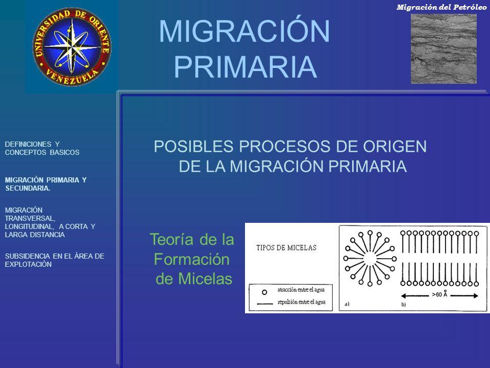 MIGRACIÓN PRIMARIA DEFINICIONES Y CONCEPTOS BASICOS MIGRACIÓN PRIMARIA Y SECUNDARIA. MIGRACIÓN TRANSVERSAL, LONGITUDINAL, A CORTA Y LARGA DISTANCIA SU