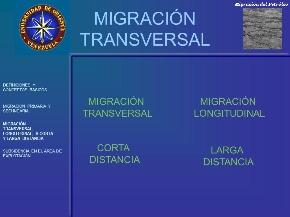 MIGRACIÓN TRANSVERSAL DEFINICIONES Y CONCEPTOS BASICOS MIGRACIÓN PRIMARIA Y SECUNDARIA. MIGRACIÓN TRANSVERSAL, LONGITUDINAL, A CORTA Y LARGA DISTANCIA