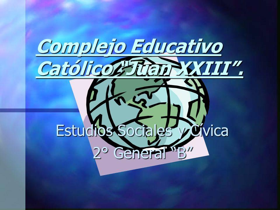 Complejo Educativo Católico Juan XXIII. Estudios Sociales y Cívica 2° General B