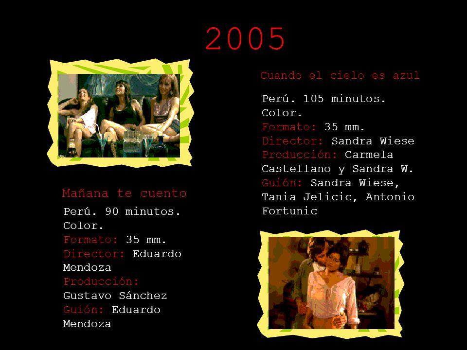 Días de Santiago Perú. 83 minutos. Color. Formato: 35 mm. Director: Josué Méndez Producción: Enid Campos Guión: Josué Méndez Doble Juego Perú. 90 minu