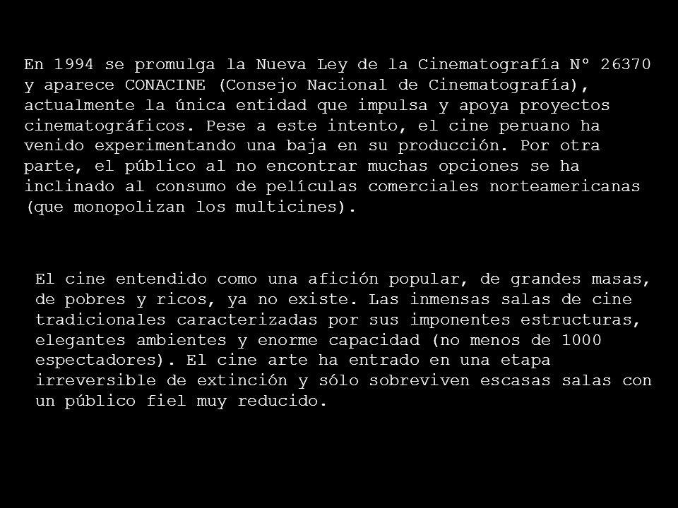 CONTEXTO CULTURAL PERUANO Entre 1972 y 1992 se conformaron más de 120 productoras, se filmaron 1200 cortometrajes, 60 largometrajes y se formaron 180