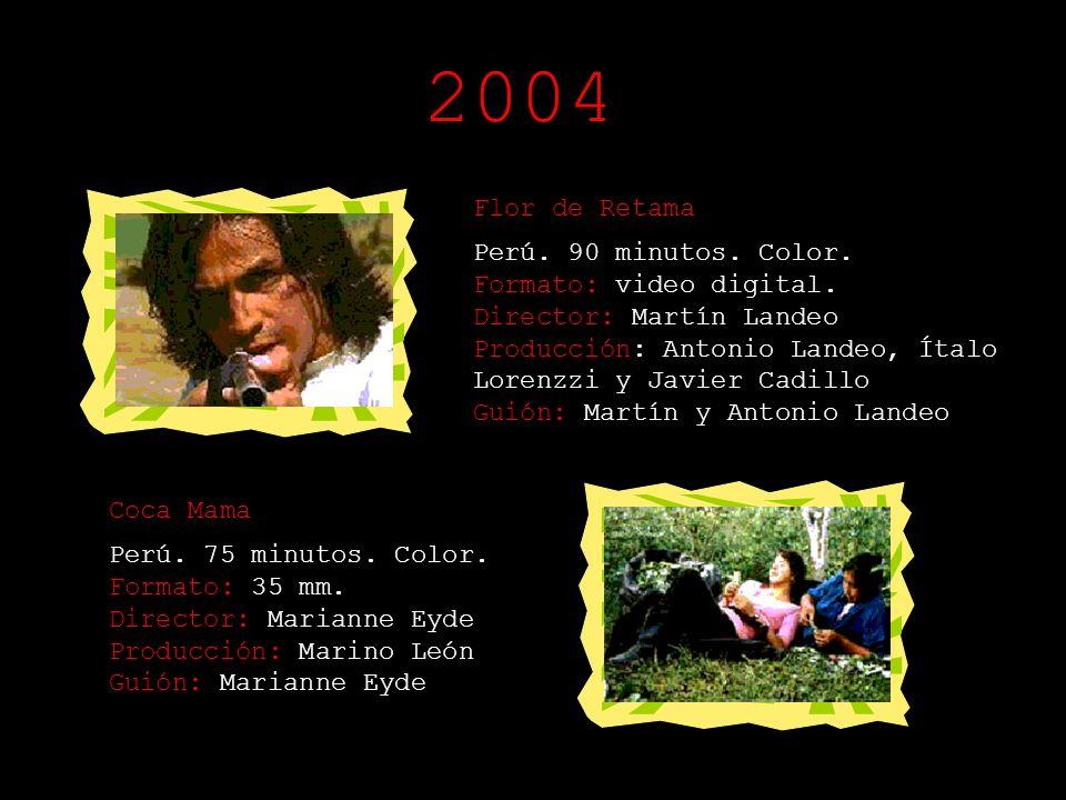 Polvo Enamorado Perú. 120 minutos. Color. Registro: Súper 16 mm. Director: Lucho Barrios Producción: Gustavo Sánchez Guión: Giovanna Pollarolo Ojos qu