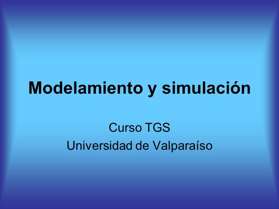 Modelamiento y simulación Curso TGS Universidad de Valparaíso