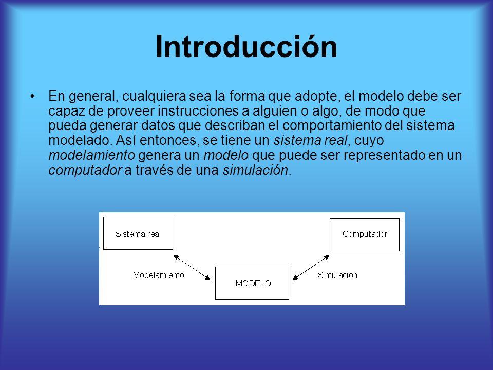 Introducción En general, cualquiera sea la forma que adopte, el modelo debe ser capaz de proveer instrucciones a alguien o algo, de modo que pueda gen