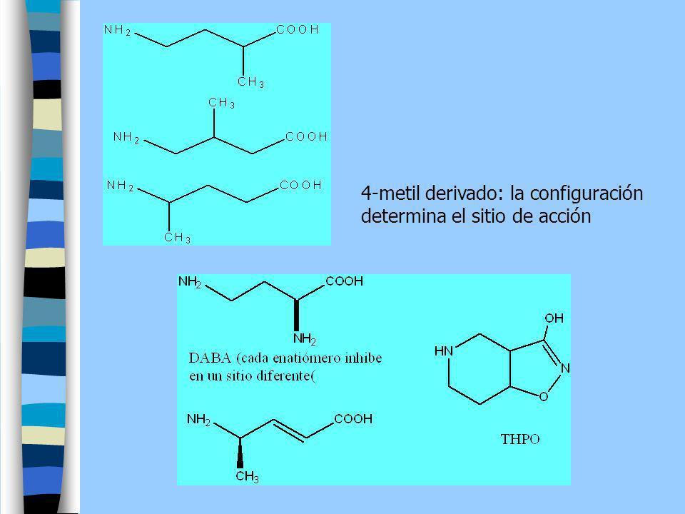 4-metil derivado: la configuración determina el sitio de acción