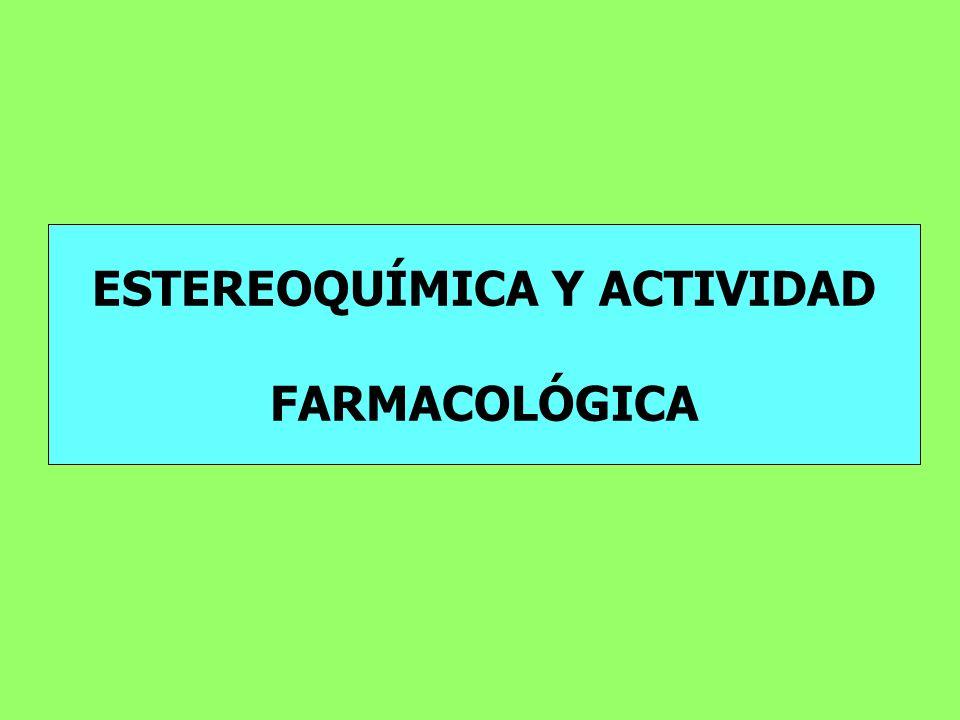 ESTEREOQUÍMICA Y ACTIVIDAD FARMACOLÓGICA