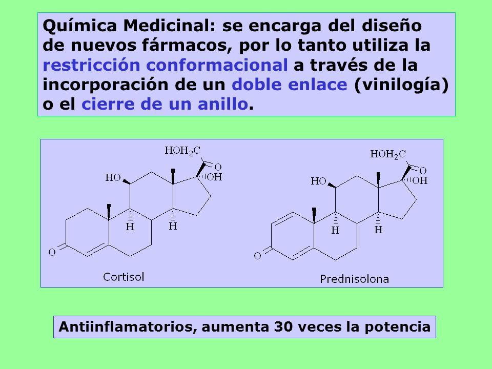 Química Medicinal: se encarga del diseño de nuevos fármacos, por lo tanto utiliza la restricción conformacional a través de la incorporación de un dob