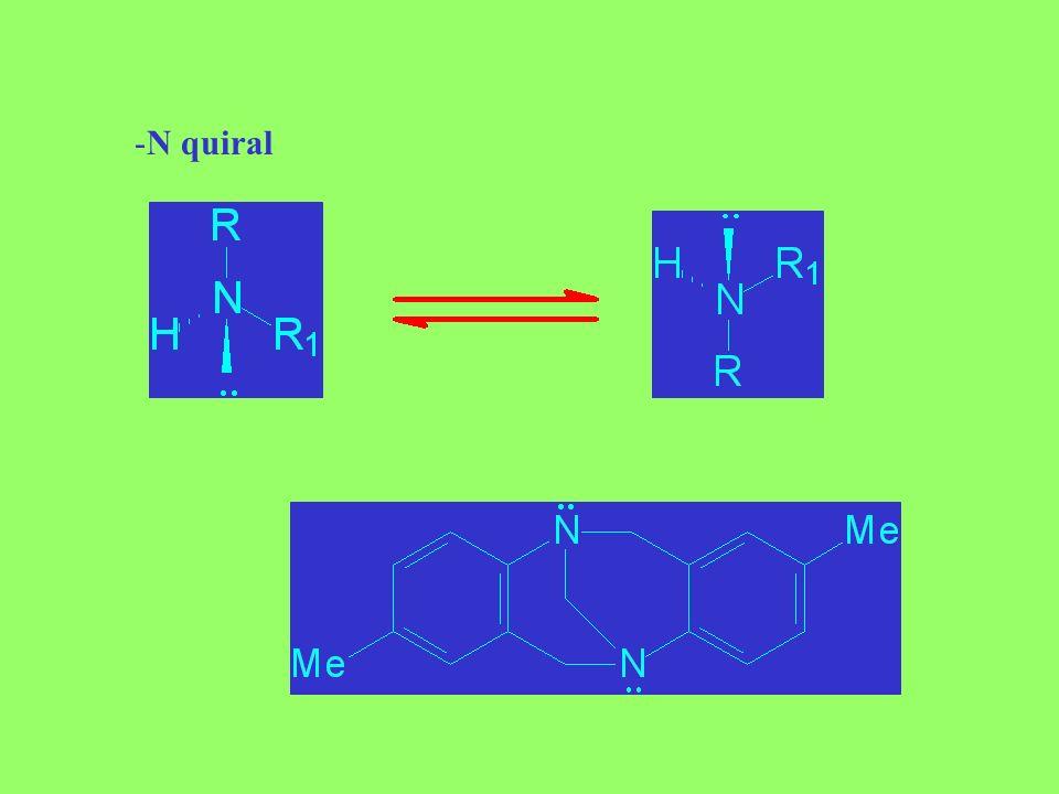 - P quiral: R / S-ciclofosfamida (anticancerígeno, ahora en artritis) -S quiral: R / S-sulindac (antiinflamatorio no esteroide)