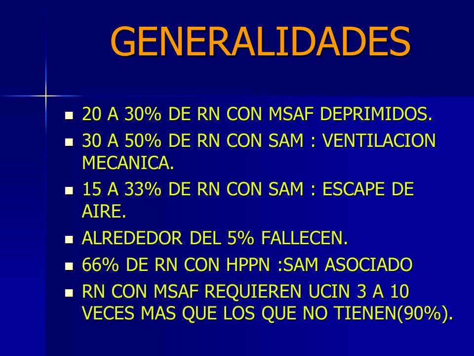 GENERALIDADES 20 A 30% DE RN CON MSAF DEPRIMIDOS.20 A 30% DE RN CON MSAF DEPRIMIDOS.