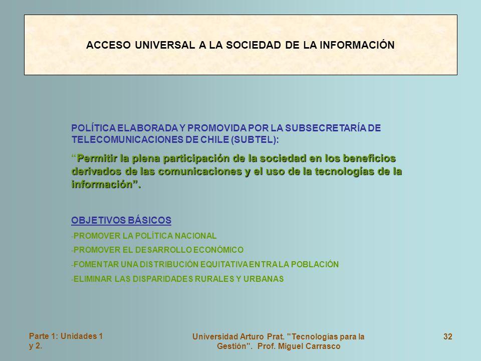Parte 1: Unidades 1 y 2. Universidad Arturo Prat.