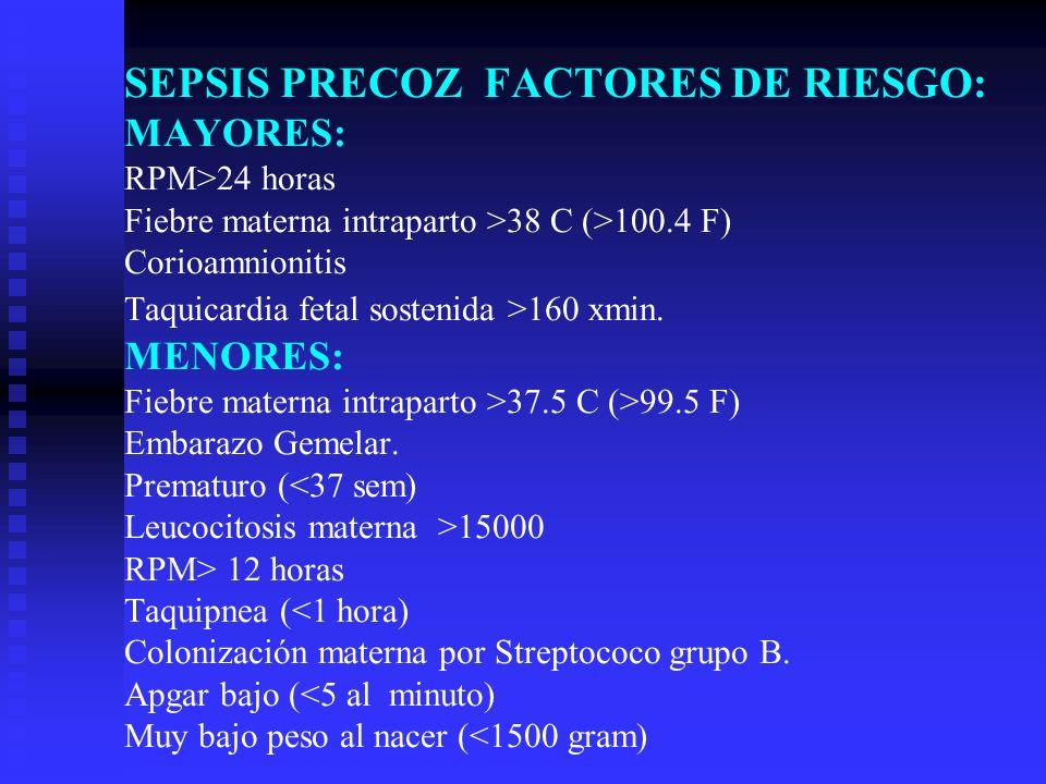 SIGNOS Y SINTOMAS DE SEPSIS TEMPRANA SDR, apnea, cianosis.