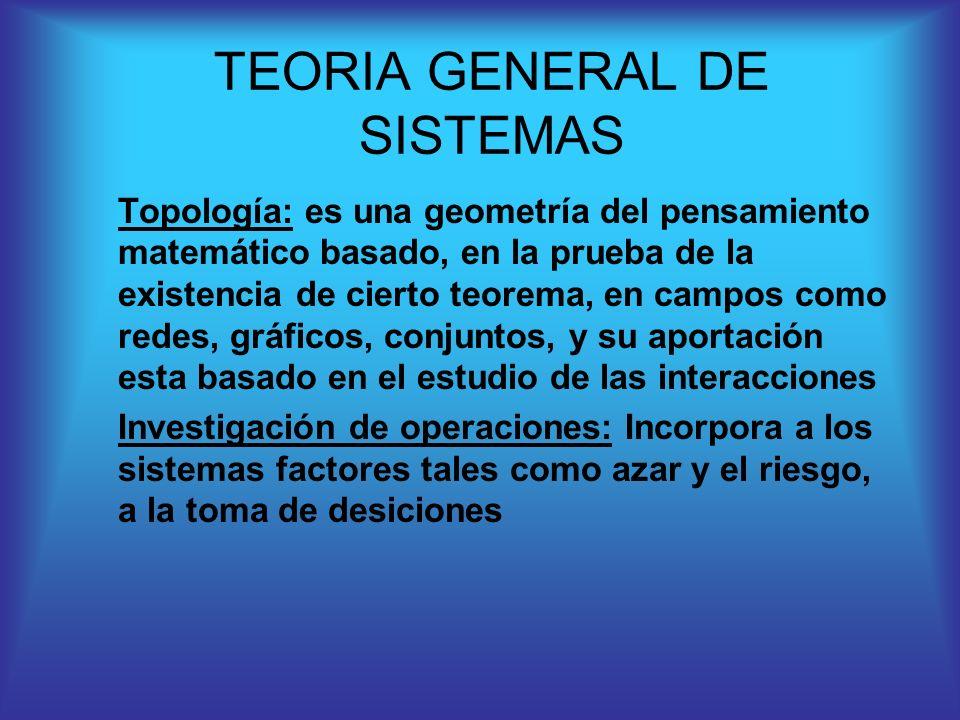Topología: es una geometría del pensamiento matemático basado, en la prueba de la existencia de cierto teorema, en campos como redes, gráficos, conjun