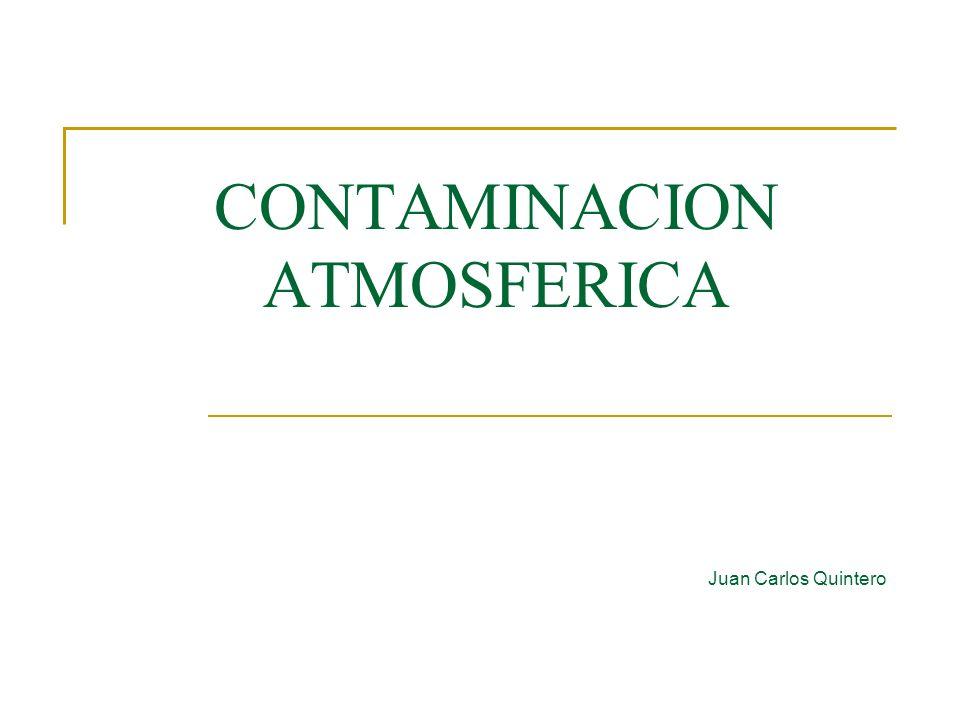 CONTAMINACION ATMOSFERICA Juan Carlos Quintero