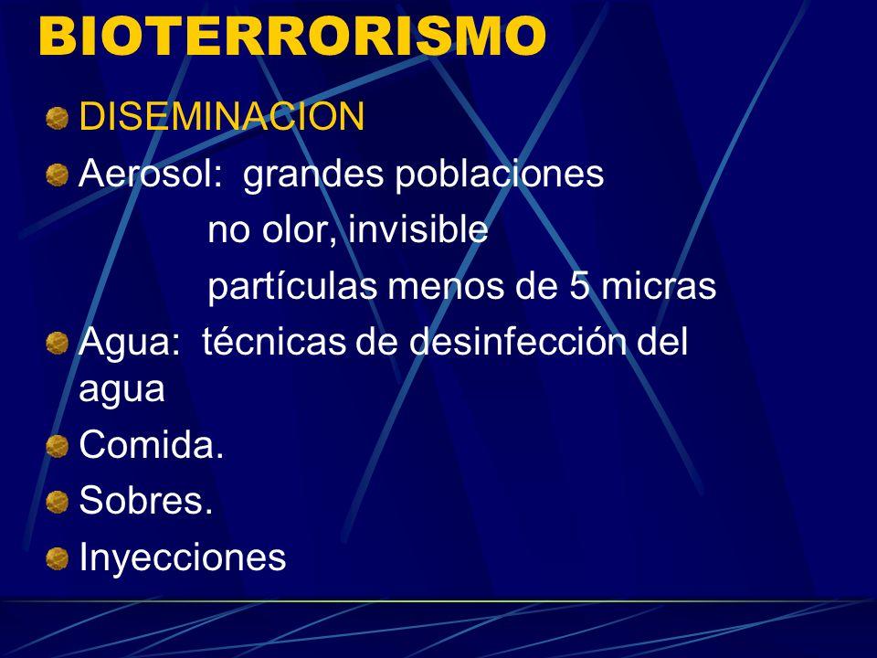 CATEGORIAS DE LOS AGENTES BIOLOGICOS SEGÚN LA CDC CATEGORIA C - Virus de Nipah - virus Hanta - Fiebre amarilla - M.Tuberculosis (cepas multiresistente