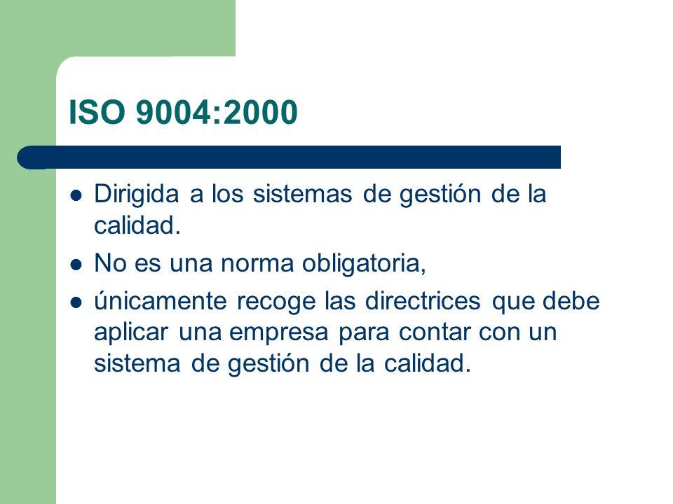 No esta limitado a los requisitos de la Norma ISO 9001:2000.