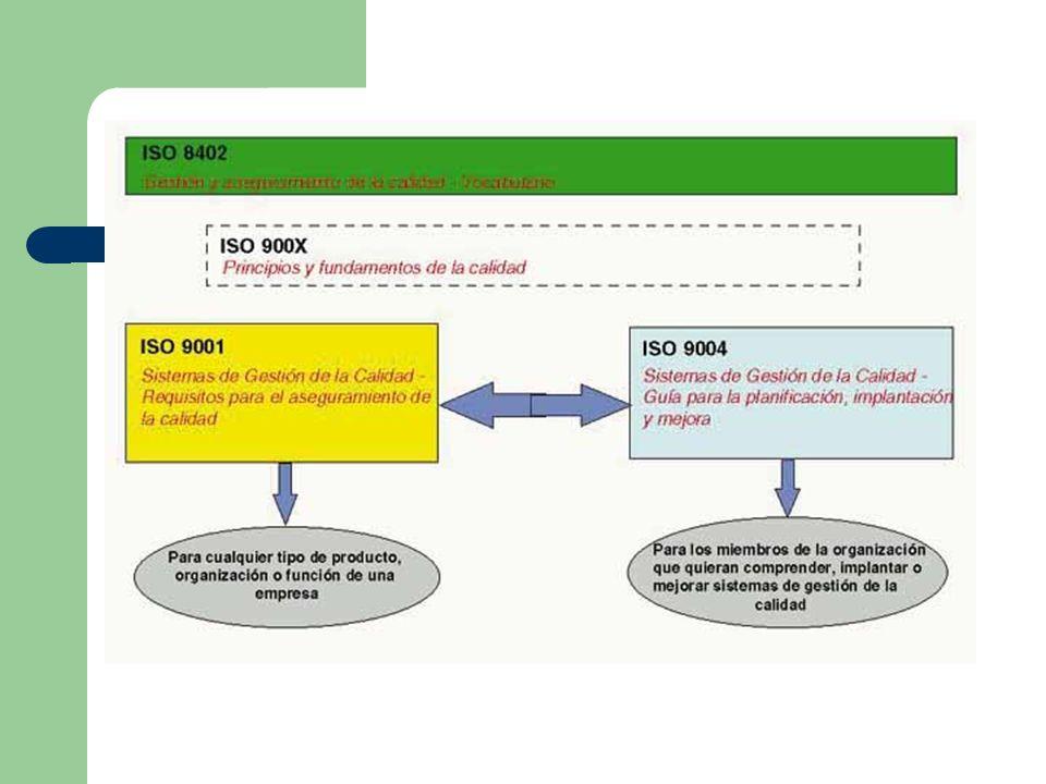 ASPECTOS RECOGIDOS EN ISO 9001 El objetivo de prevenir la insatisfacción del cliente mediante el cumplimiento efectivo de sus requisitos Cumplimiento de los requisitos de la norma Efectividad Requisitos mínimos de aseguramiento de la calidad Productos que cumplan los requisitos de los clientes Los requisitos se cumplen o no se cumplen Capacidad para cumplir los requisitos de los clientes y mejorar los procesos, reduciendo riesgos y previniendo los fallos ASPECTOS RECOGIDOS EN ISO 9004 El objetivo de conseguir ventajas competitivas a través de sobrepasar de una forma eficiente y efectiva los requisitos del cliente Guía (no hay requisitos que se deban cumplir) Eficiencia Las mejores prácticas Productos que cumplan y excedan las expectativas de los clientes Grado de excelencia Capacidad para conseguir un funcionamiento excelente y encantar al cliente
