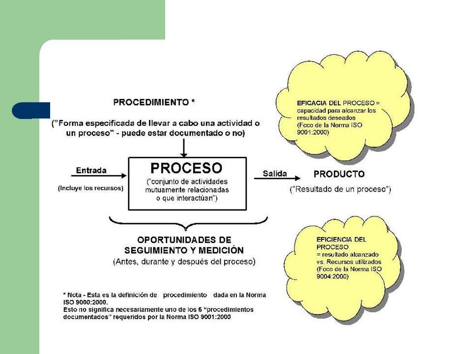 Diferencias entre ISO 9001 e ISO 9004 La Norma ISO 9001:2000 enfatiza la importancia para una organización de identificar, implementar, gestionar y mejorar continuamente la eficacia de los procesos que son necesarios para el sistema de gestión de la calidad, y para gestionar las interacciones de esos procesos con el fin de alcanzar los objetivos de la organización.
