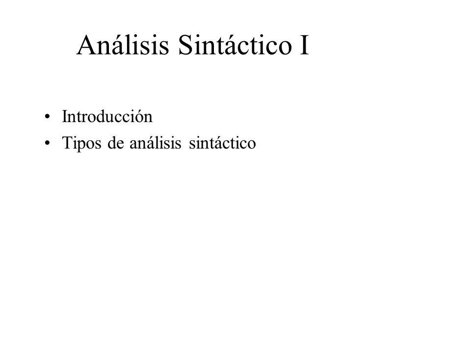 Análisis sintáctico I: Introducción Compiladores e intérpretes –Cada lenguaje de programación tiene reglas que determinan la estructura sintáctica que indica la correcta formación de los mismos.