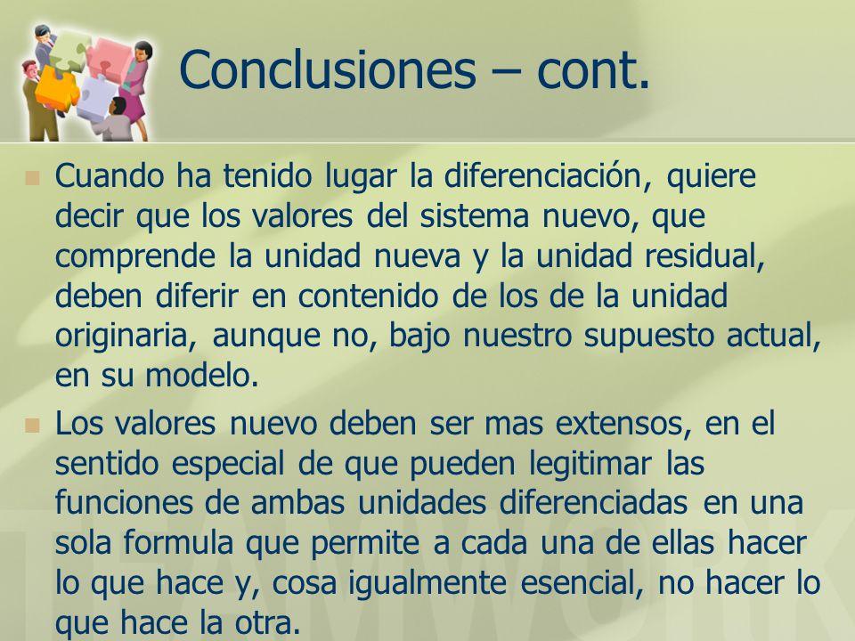 Conclusiones – cont.
