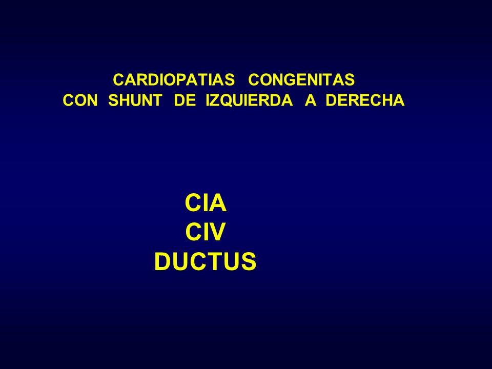 CIA CIV DUCTUS CARDIOPATIAS CONGENITAS CON SHUNT DE IZQUIERDA A DERECHA